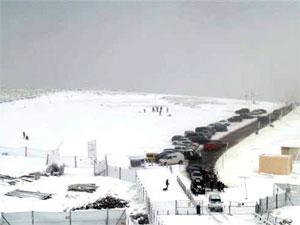 Aparcamiento de la estación de esquí de La Covatilla