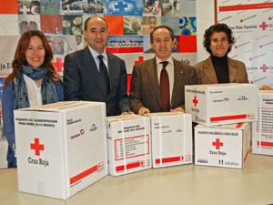 Responsables de Cruz Roja Salamanca y Caja España - Duero