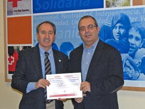 Jesús Juanes junto al vicepresidente del Colegio de Administradores de fincas