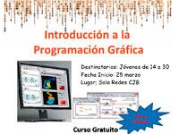 Cartel curso introducción a la programación gráfica