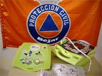 Desfibrilador AED, Protección Civil Béjar