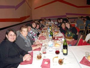 Cena Día de la Mujer Trabajadora en Santibañez de Béjar (Foto: Isidoro S Casquero)