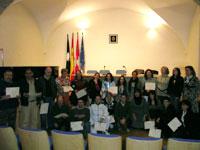 Entrega diplomas curso de riesgos laborales, Béjar