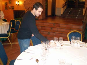 Practicas de hostelería de alumnos de Elige 17 en Béjar