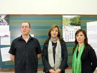 Concejal de Béjar junto al equipo directivo de la escuela de musica de Béjar