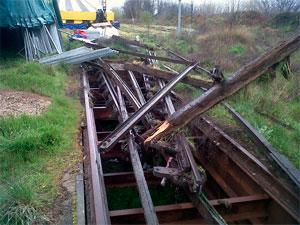 Vías del tren desmanteladas en la estación de Béjar