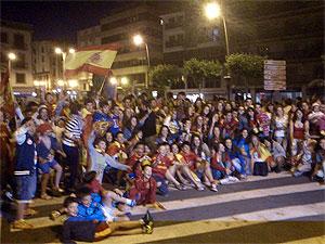 Celebración Eurocopa 2012 en Béjar