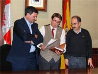 Francisco Maestre, Cipriano González y Juan Tomás Sánchez