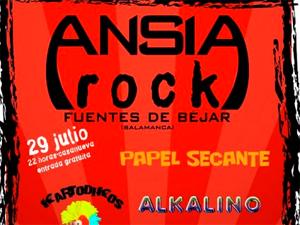 Cartel Festival Ansia Rock, Fuentes de Béjar