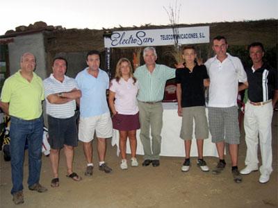 Foto ganadores Torneo de Golf de Verano Electro San Béjar