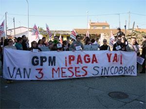 Manifestación de los trabajadores de GPM, Guijuelo