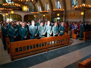 Misa del Día del Pilar en Béjar, patronada de la Guardia Civil