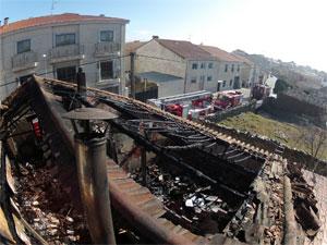 Incendio vivienda en Guijuelo