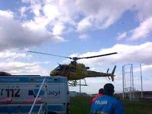 Helicoptero de rescate en Palomares de Béjar