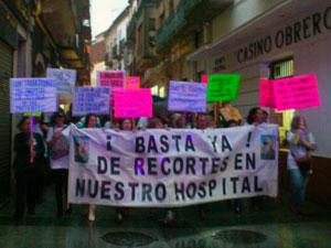 Manifestación en defensa del Hospital de Béjar, 26 de abril