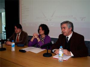 De izquierda a derecha, Esteban Sánchez, María Ángeles Serrano y Francisco Martín Labajos