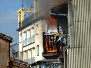 Vivienda incendiada en el Balconcillo de la Médica. Béjar