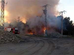 Incendio en la zona de Bañaduras Bajas.</body></html>