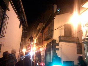Incendio Calle Alojeria, Béjar