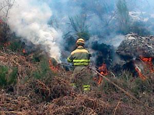 Incendio en la Dehesa de Candelario