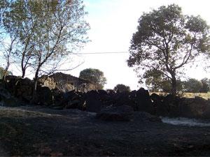Superficie calcinada en el Valle de Sangusín