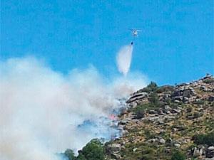 Incendio en el Puerto de Vallejera