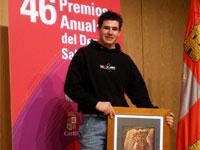 Iván Izquierdo recogiendo el premio, Salamanca