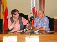 Cipriano González y Antonio Aviles, presentación jornadas judias en Béjar