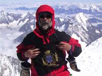 Juan Guinaldo en la cumbre del Mont Blanc