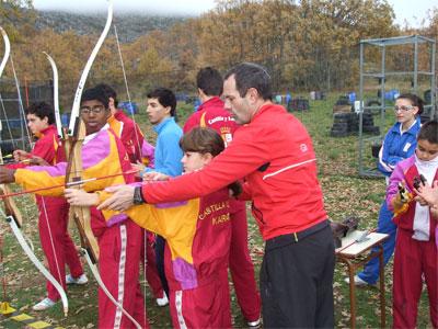 Concentración equipo regional de Karate en Béjar