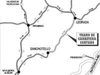 Mapa Carretera Ledrada-Sanchotello CV-207