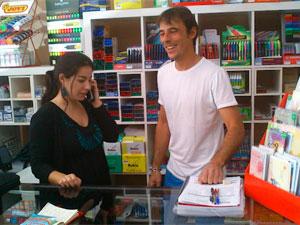 Maria José y Placido. Librería Hontiveros