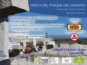 Cartel Fiesta Parque del Granito, Los Santos