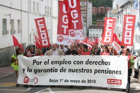 Manifestación 1 de Mayo en Béjar