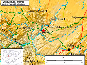Mapa del Seismo. IGN
