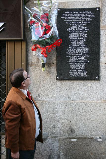 Placa Homenaje a los Martires de la Libertad, Béjar 2008