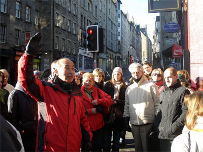 Grupo de Alumnos en Edimburgo