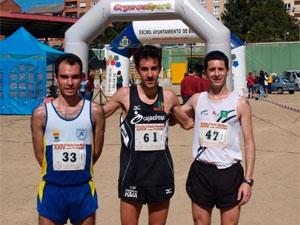 Ganadores en categoría masculina de la Media Maraton Ciudad de Béjar