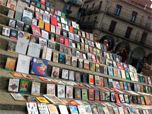 Puesto de libros del Mercadillo