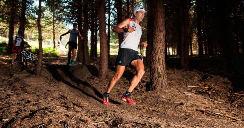 Miguel Heras disputando una prueba de trail