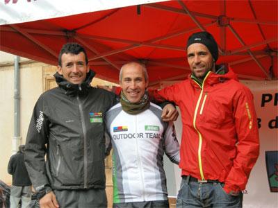 Miguel Heras, Aurelio Olivar y Juan Barea , Salomon Santiveri