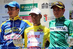 Moises Dueñas en el Podium de la Vuelta a Zamora 2012