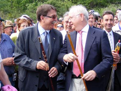 El Alcalde de Béjar junto al de La Garganta