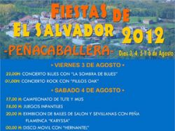 Cartel Fiestas de Peñacaballera 2012
