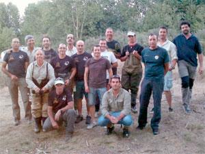 Participantes del II Trofeo de pesca Ferias y Fiestas de Béjar
