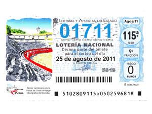 Décimo Loteria Nacional Plaza de Toros de Béjar