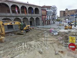Obras en la Plaza Mayor de Béjar