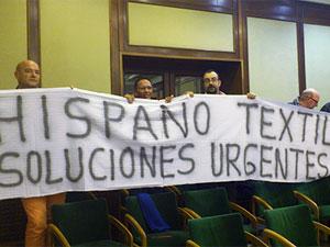 Militantes socialistas piden una solución urgente a los residuos de Hispano Textil, Béjar