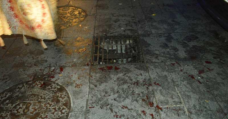 Sangre sobre el trayecto recorrido por las Ocas, imagen PODEMOS bejar y comarca