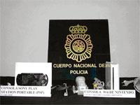 Material recuperado por la Policia de Béjar